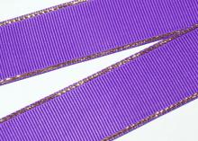 Репс с люрексом Золото, Фиолетовый 465, 38 мм