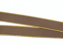 Репс с люрексом Золото, 25 мм. Коричневый-028