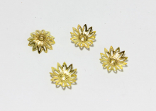 Шапочки для бусин 12-листник, 16 мм Золото