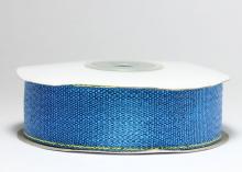 Парча голубая с люрексом, 25 мм