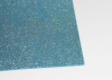 Фоамиран глиттерный, Светло-голубой. 20х30 см