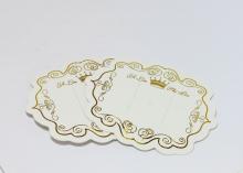 Планшетки для заколок, Белая с золотом, 7х8 см