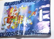 Пакет подарочный Снеговички, 20х30 см