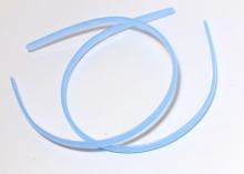 Ободок пластиковый, 0,8 см. Голубой
