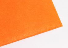 Фетр жесткий, 1 мм, 20х30 см, Ярко-оранжевый