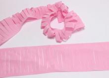 Декоративная лента с прорезями, 5х100 см, Розовая