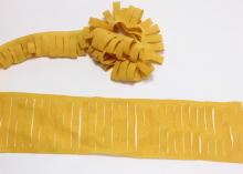 Декоративная лента с прорезями, 5х100 см, Горчица