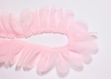 Лента декоративная Лепестки, 43 мм, Светло-Розовая