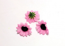 Цветок ромашка ткань розовый, 4 см