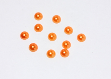 Полубусины оранжевые, 8 мм (уп. 40 шт)