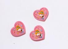 Кабошон Сердце принцесса розовый, 20х18 мм