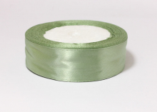 Лента атласная, зеленая-167, 25 мм