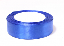 Лента атласная, синяя №40, 25 мм