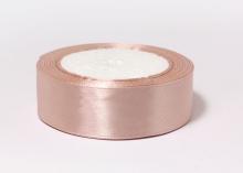 Лента атласная, бежево-розовый-107, 25 мм
