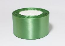 Атласная лента Зеленая-167, 50 мм