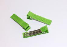 Зажим металл+ткань, 5 см, зеленый