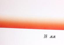 Репсовая лента градиент бело-красный, 38 мм