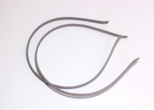 Ободок металл+ткань, Серый, 6 мм