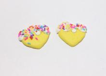 Кабошон сердце, 25 мм, желтое