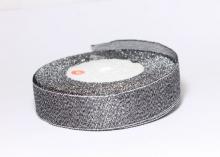 Парча темное серебро, 25 мм