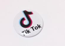 Кабошон с закатной картинкой Тик ток tik tok, 32 мм