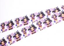 Репсовая лента Девочка в сиреневом. 25 мм