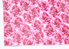 Кожа PU (иск.) Розы, 20х30 см (+/- 1 см)