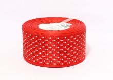 Органза горох, Красная, 50 мм