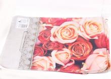 Пакет подарочный Розы 20х30 см