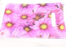 Пакет подарочный Розовые цветы 20х30 см