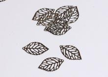 Филигрань Лист серебро, 35х20 мм
