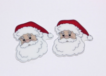 Кабошон плоский Дед мороз, 35-40 мм