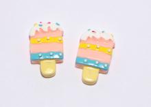 Кабошон мороженое Светлый, 35х21 мм
