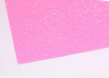 Фоамиран глиттерный, Светло розовый перламутр. 20х30 см