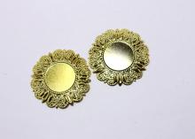 Рамка металл, внутр. диаметр 25 мм, внешний - 50 мм, Золото