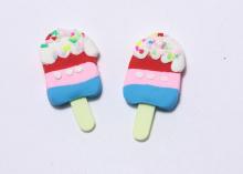 Кабошон Мороженое яркий, 35х18 мм