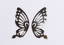 Крылья бабочки металл, 42х19 мм, Пара