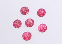 Кабошон круглый, блестящий. Розовый, 12 мм