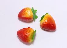 Муляж клубники красный, 3 см