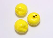Муляж Яблока желтый, 3 см