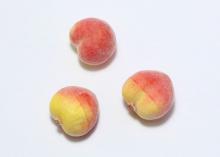 Муляж персика в сахаре 2,5 см, красный