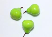Муляж груши 3 см , зелёный