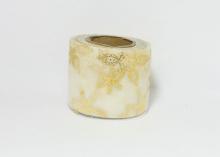 Фатин со снежинками, 5,5 см, Бежевый