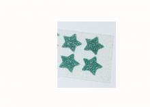 Термотрансфер Звезды глиттер, размер звезды 20 см, 4 шт. Голубой