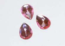 Кабошон Капля, Розовый 25х18 мм