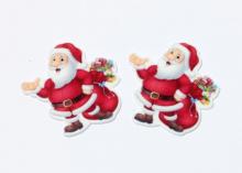 Кабошон плоский Дед мороз подарки, 35-40 мм