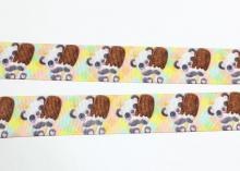 Репсовая лента Панда мороженое, 25 мм