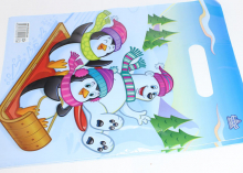 Пакет подарочный Пингвины 20х30 см