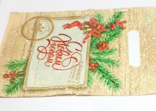 Пакет подарочный Еловая веточка 20х30 см