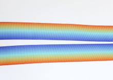 Лента репсовая градиент сине-оранжевый, 25 мм